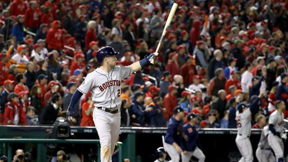 Alex Bregman's grand slam capped off the Astros' 8-1 victory in Game 4. He also had an RBI single that opened the scoring in the first inning.