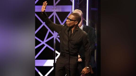 Kirk Franklin accepts the award for gospel artist of the year at the Dove Awards on Tuesday, Oct. 15, 2019.