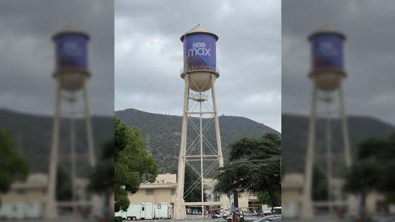 The famous Warner Bros. tower has been updated for Tueday