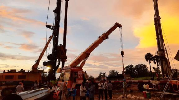 Rescuers drilled a shaft parallel to the well to try and free the trapped boy.