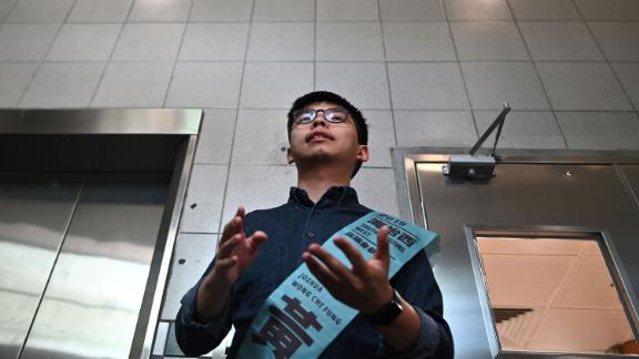 Pro-democracy activist Joshua Wong was disqualified from running after the government ruled that his political beliefs were incompatible with the constitution.