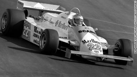 Mario Andretti, driving here for Alfa Romeo at the 1981 Caesar's Palace Grand Prix, ended his career at the same race a year later.