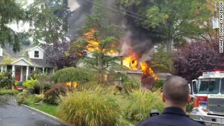 The NTSB is investigating a plane crash that caused a house fire in New Jersey.