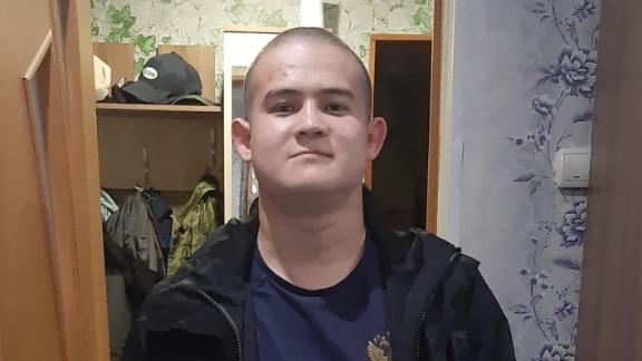 Russian state media identify the individual in the photo as Private Ramil Shamsutdinov, the man accused of killing eight Russian service members at a military base in Siberia.