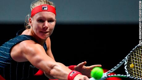 Kiki Bertens entered the year-end championships as an alternate for the second straight year.