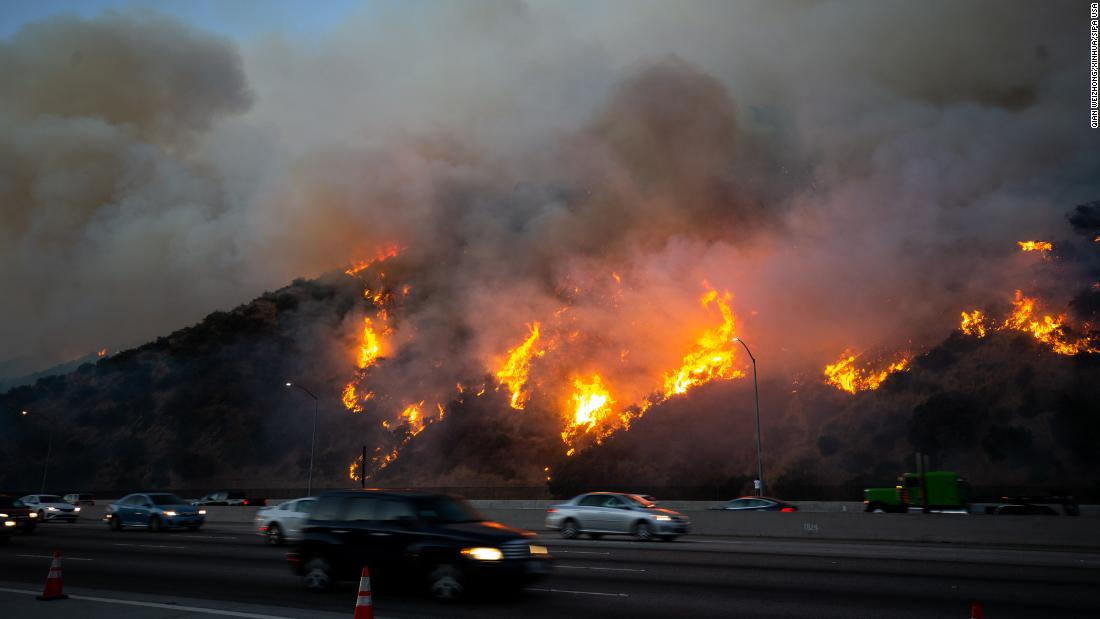 Thousands of Los Angeles residents have been forced to evacuate their homes because of the Getty Fire.
