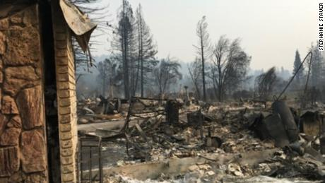 This is what was left of the Stauers' home after it was destroyed by the Tubbs Fire in 2017.