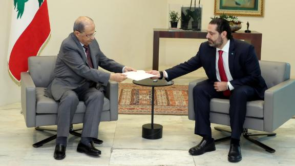 Lebanese PM Hariri hands resignation to Lebanon President