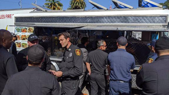 Los Angeles Mayor Eric Garcetti tweeted images of the taco truck Tuesday.