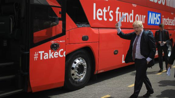 Boris Johnson during the 2016 EU referendum campaign.