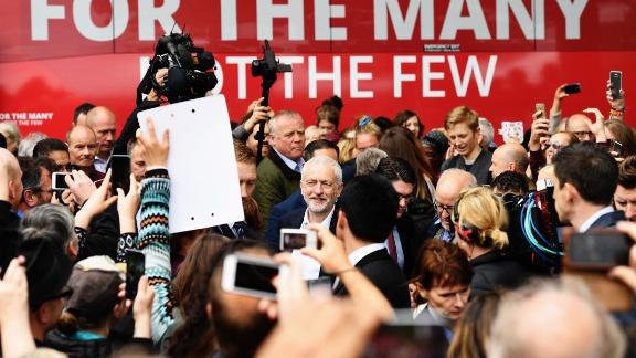 Jeremy Corbyn campaigns during the 2017 general election.