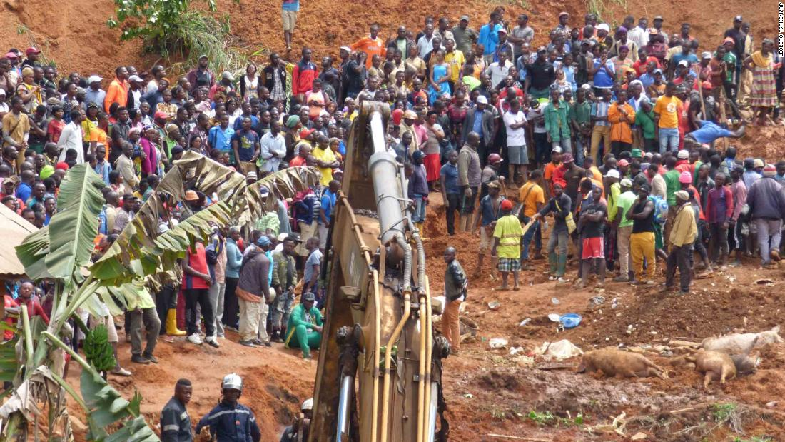 Teenage girl pulled out of rubble as 42 people are killed in Cameroon landslide