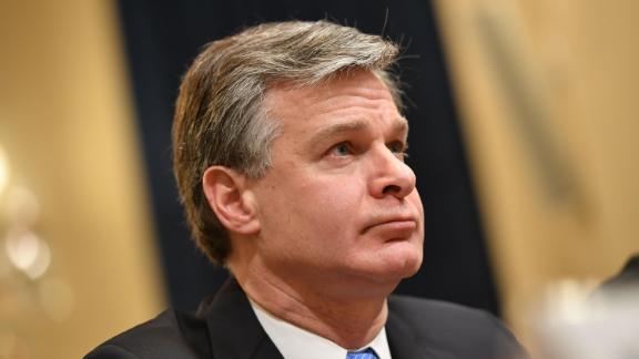 FBI Director Christopher Wray testifies before the House Homeland Security Committee on global terrorism and threats to the homeland in the Cannon House Office Building on Capitol Hill in Washington, DC on October 30, 2019.