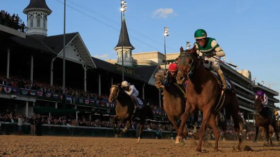 Joel Rosario rode Accelerate to victory in the 2018 Breeders' Cup Classic at Churchill Downs, Kentucky.