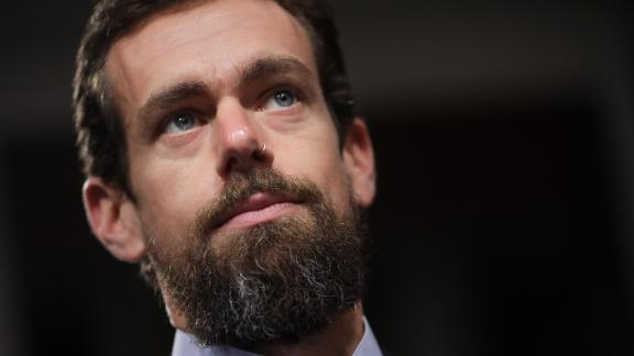 WASHINGTON, DC - SEPTEMBER 5: Twitter chief executive officer Jack Dorsey looks on during a Senate Intelligence Committee hearing concerning foreign influence operations' use of social media platforms, on Capitol Hill, September 5, 2018 in Washington, DC. Twitter CEO Jack Dorsey and Facebook chief operating officer Sheryl Sandberg faced questions about how foreign operatives use their platforms in attempts to influence and manipulate public opinion. (Photo by Drew Angerer/Getty Images)