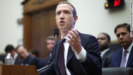 Facebook CEO Mark Zuckerberg testifies before Congress in October.