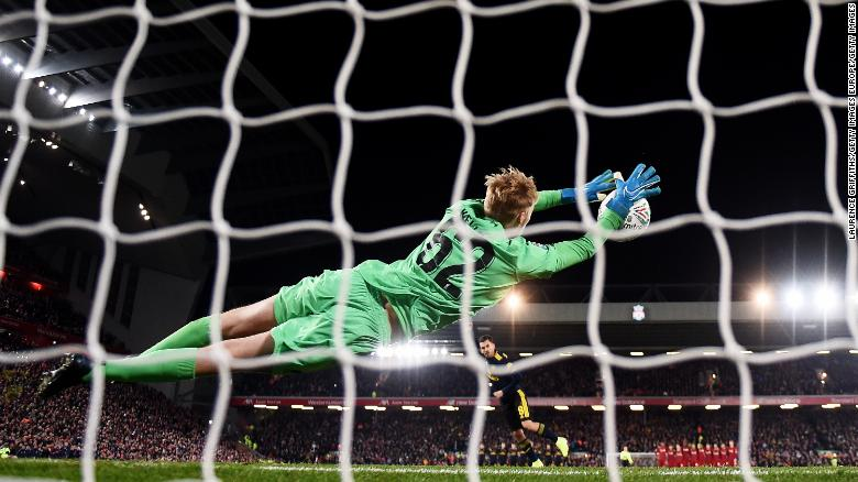 Caoimhin Kelleher starred in the penalty shootout as Liverpool beat Arsenal in the Carabao Cup.