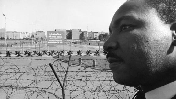 Martin Luther King Jr. gave sermons in both East and West Berlin during his September 1964 visit to the city. He won the Nobel Peace Prize later the same year.