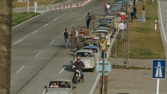 A line of East Germany
