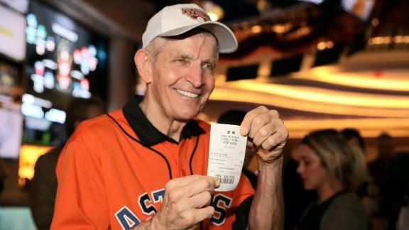 "Jim ""Mattress Mack"" McIngvale smiles on October 1 after placing a $3.5 million bet on the Astros winning the World Series."