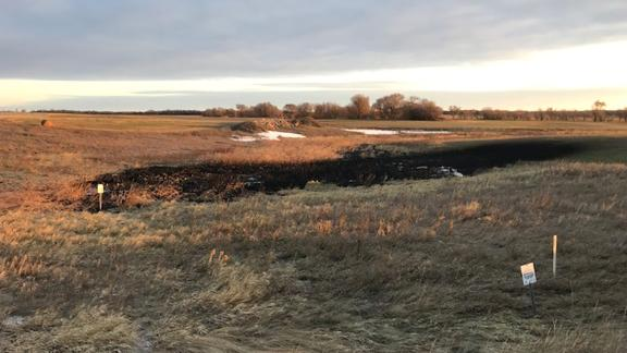 About 9,120 barrels of oil were leaked into surrounding wetlands on October 28, 2019.