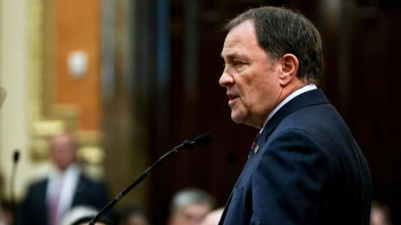 Utah Gov. Gary Herbert delivers his State of the State address at the Utah State Capitol, Wednesday, Jan. 30, 2019, in Salt Lake City.