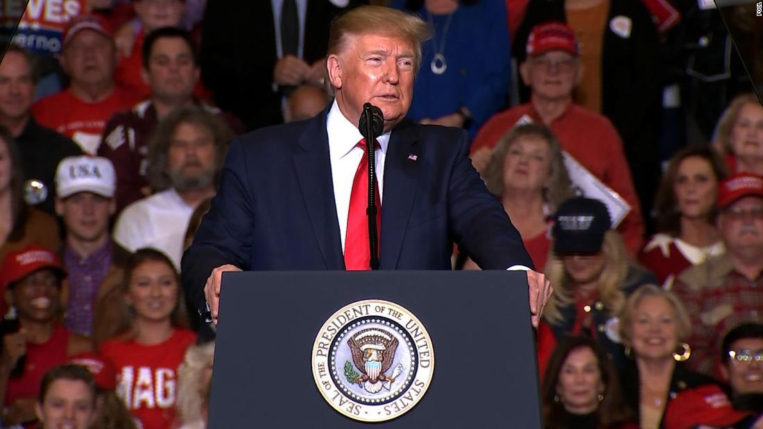 Γεγονός, ελέγξτε: Trump ψέματα για το CNN στο Μισισιπή ράλι