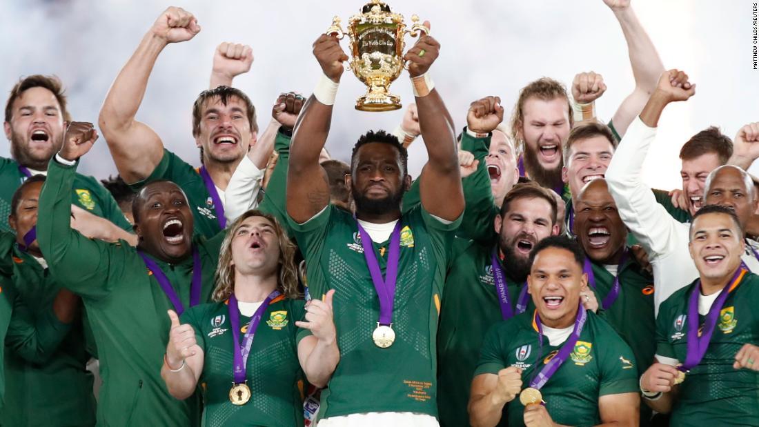 Νότια Αφρική ακινητοποιεί την Αγγλία να κερδίσει το Παγκόσμιο Κύπελλο Ράγκμπι και να εμπνεύσει ένα έθνος