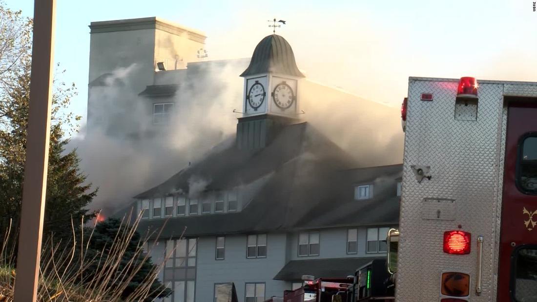Feuer wütet historischen Pocono resort