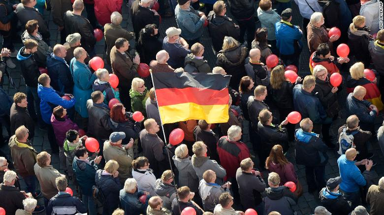 Inside march against Islam in Germany (2015)