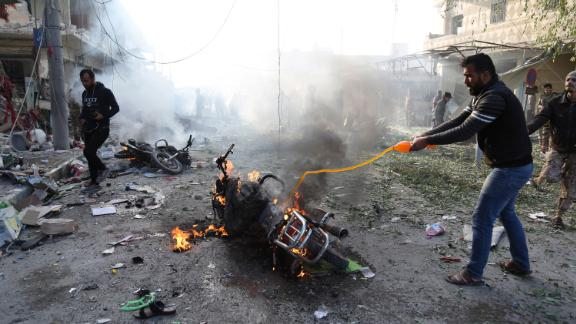 A car bomb exploded in the northern Syrian town of Tal Abyad, killing at least 13 people.