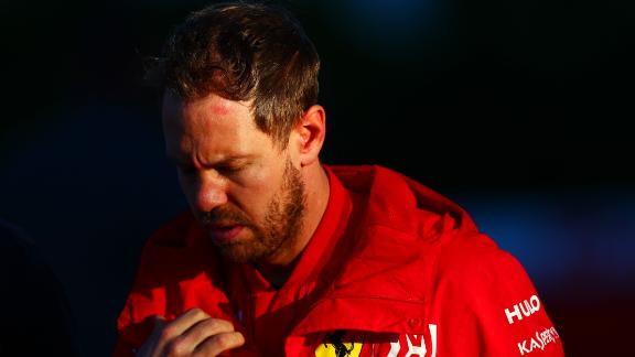 AUSTIN, TEXAS - NOVEMBER 01: Sebastian Vettel of Germany and Ferrari walks in the Paddock after practice for the F1 Grand Prix of USA at Circuit of The Americas on November 01, 2019 in Austin, Texas. (Photo by Dan Istitene/Getty Images)