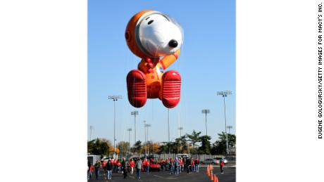 Astronaut Snoopy by Peanuts Worldwide seen on test flight on November 2