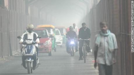 "Air quality has reached ""hazardous"" levels in parts of New Delhi, following days of heavy smog."
