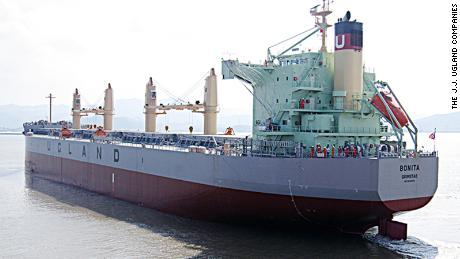 Pirates boarded the MV Bonita at the Cotonou port in Benin, shipping company J.J. Ugland said.