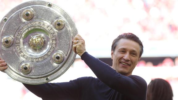 Niko Kovac during happier times as manager of Bayern Munich.