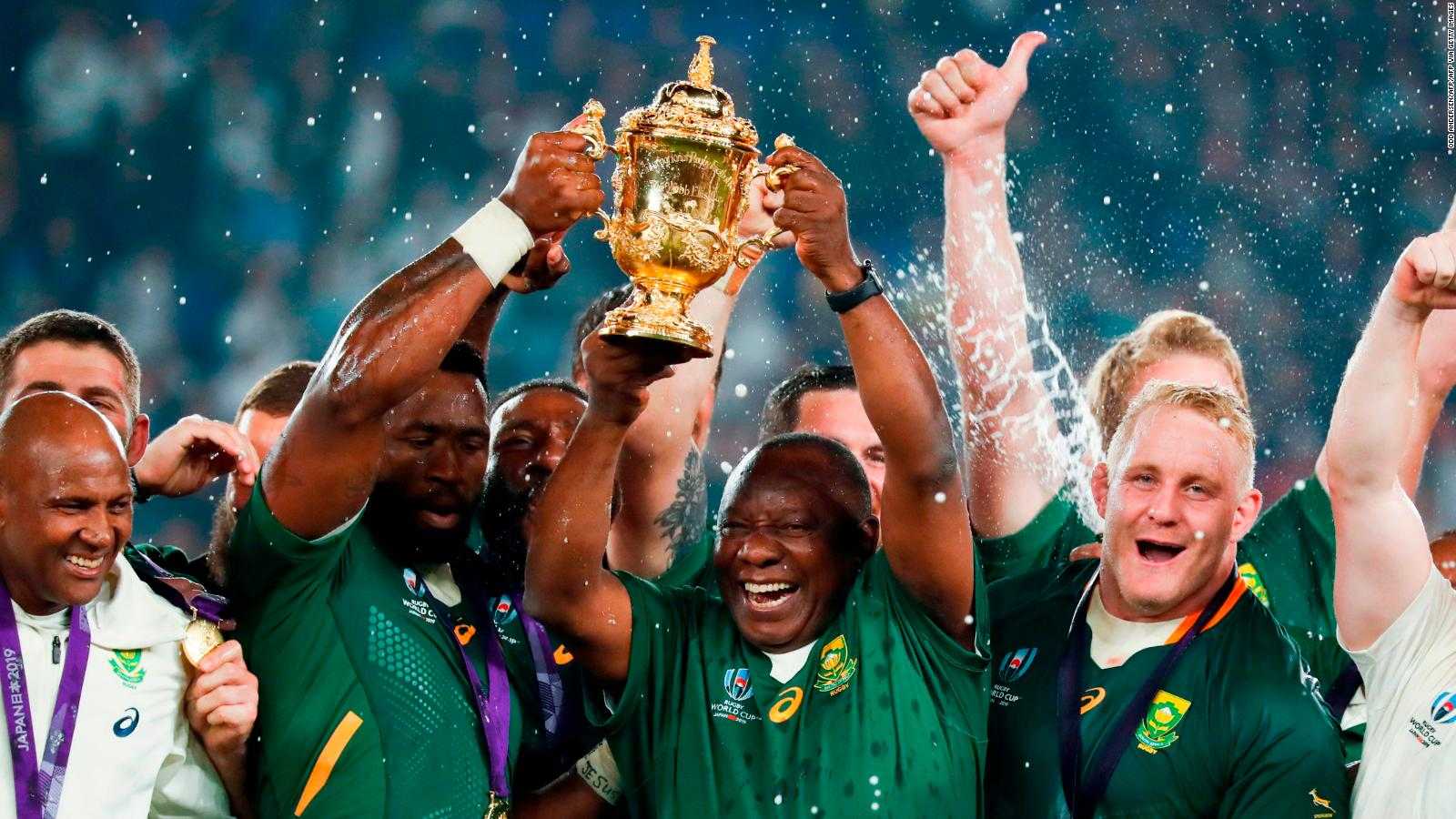 Francois Pienaar Take The World Cup Trophy To The People Cnn