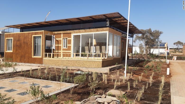 The Jua Jamii house's exterior finishing.