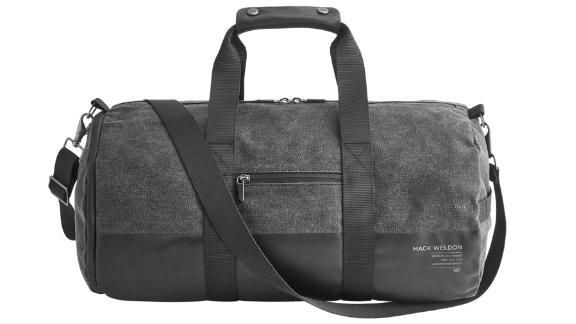 GTX Duffel Bag ($98; mackweldon.com): Designed to be durable, the GTX duffel bag features water-resistant wax canvas, a sturdy and protective rubber bottom, and an anti-odor inner lining. Six interior pockets and a shoe compartment complete the functionality for all your guy