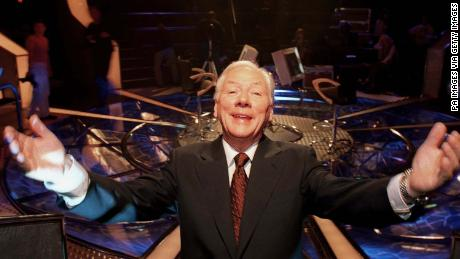 "Irish broadcaster Gay Byrne on the set of ""Who Wants To Be A Millionaire?"" in Dublin."