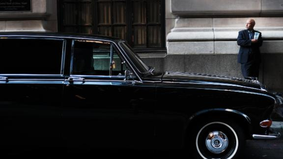 NEW YORK, NEW YORK - SEPTEMBER 03: A vintage car sits along a street in the Financial District of Manhattan on September 03, 2019 in New York City. New manufacturing data released on Tuesday renewed concerns about a weakening global economy. Oil prices also fell on Tuesday as the continuing U.S.-China trade dispute continues to worry markets and  investors about a global slowdown. (Photo by Spencer Platt/Getty Images)