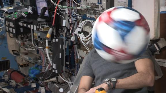 Adidas sent soccer balls to the ISS US National Laboratory to run experiments.