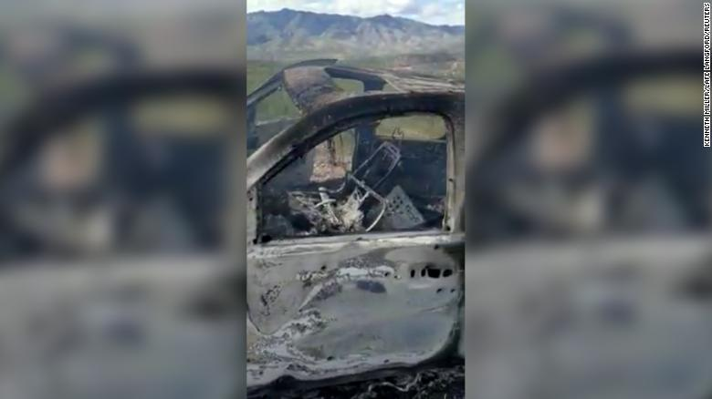 A vehicle that was carrying a Mormon family living near the Mexico-US border was burned after an attack Monday.