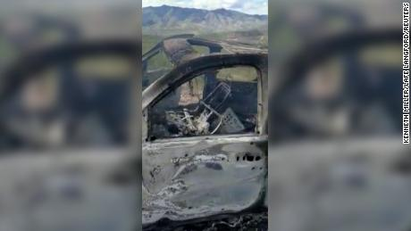 A vehicle carrying a Mormon family living near the Mexican-American border was burned after Monday's attack.