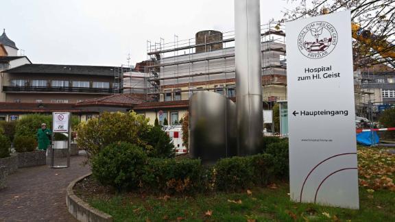 The main entrance of the Hospital zum Heiligen Geist hospital, where the woman worked.