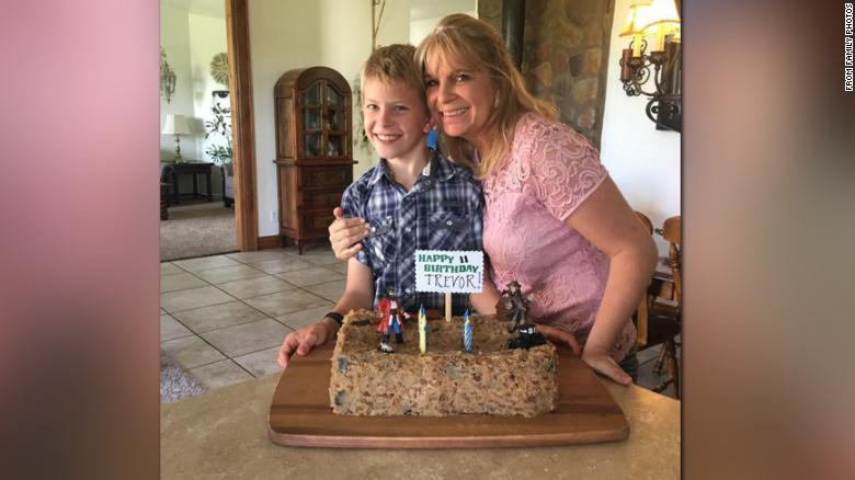 Dawna Ray Langford with her son, Trevor, who both died in the attack