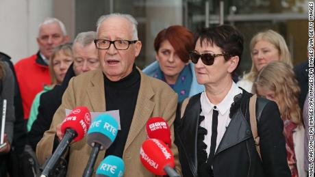 Patrick and Geraldine Kriegel, Ana's parents, spoke to the media outside Dublin's Central Criminal Court on Tuesday.