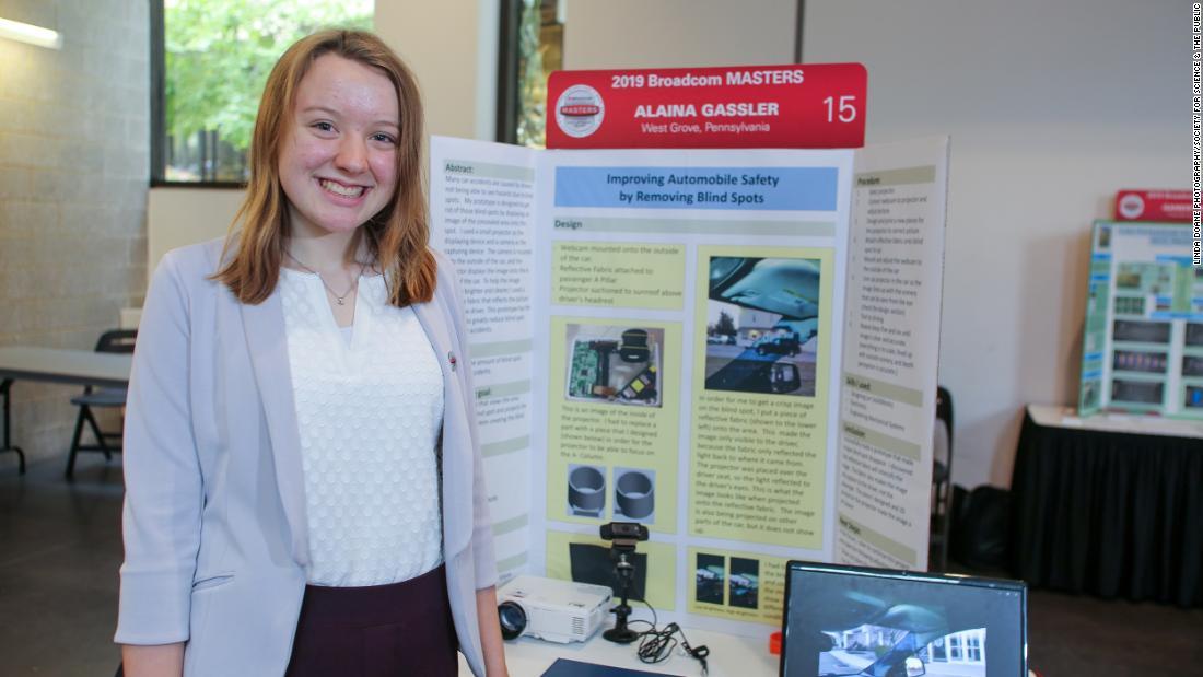 Teen gewann das $25.000 Preis für die Erfindung der Lösung, um blinde Flecken zu beseitigen für Autos