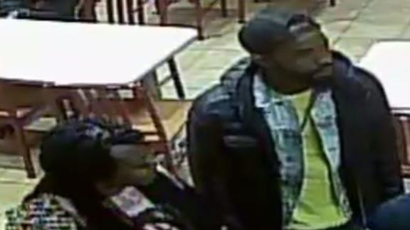Police are looking for a suspect and a woman police say left with him.