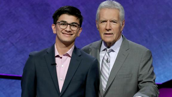 """Gupta won the 2019 """"Jeopardy!"""" teen tournament in June. He said Trebek is someone he's always looked up to."""